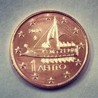 1 евроцент 2014 год. Греция