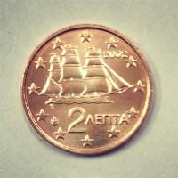 2 евроцента 2002 год. Греция