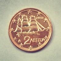 2 евроцента 2010 год. Греция