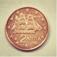 2 евроцента 2012 год. Греция