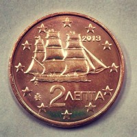 2 евроцента 2013 год. Греция