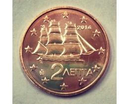 2 евроцента 2014 год. Греция