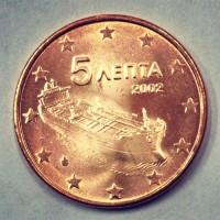 5 евроцентов 2002 год. Греция