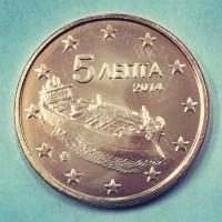 5 евроцентов 2014 год. Греция