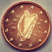 1 Евроцент 2002 год. Ирландия