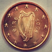 1 Евроцент 2004 год. Ирландия