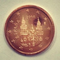 1 евроцент 2014 год. Испания