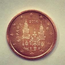 2 евроцента 2014 год. Испания