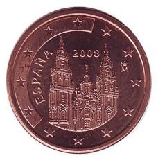 1 евроцент 2008 год. Испания