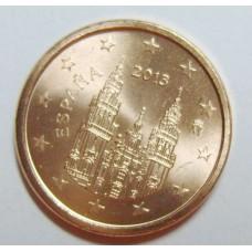 1 евроцент 2013 год. Испания