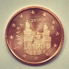 5 евроцентов 2014 год. Испания
