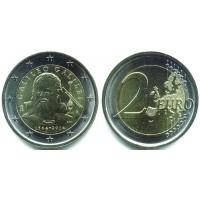 2 евро 2014 год. Италия. Галилео Галилей — 450 лет со дня рождения