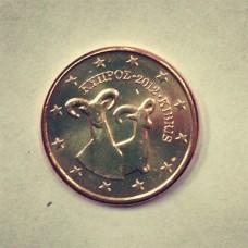 1 Евроцент 2012 год. Кипр
