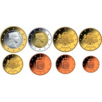 Латвия. Набор евро монет 2014 год