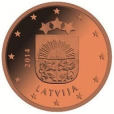 2 евроцента 2014 год. Латвия