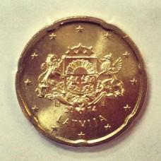 20 Евроцентов 2014 год. Латвия