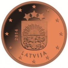 1 евроцент 2014 год. Латвия