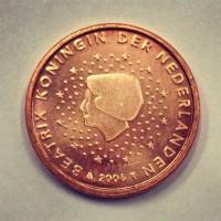 1 Евроцент 2006 год. Нидерланды
