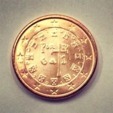 1 евроцент 2011 год. Португалия
