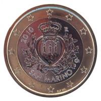 1 евро 2010 год. Сан-Марино