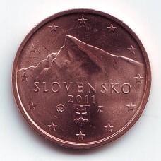 2 евроцента 2011 год. Словакия
