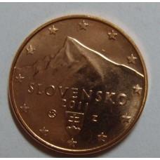 1 евроцент 2011 год. Словакия