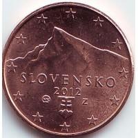 1 евроцент 2012 год. Словакия