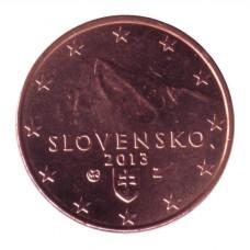 1 евроцент 2013 год. Словакия