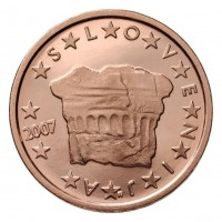 2 евроцента 2007 год. Словения