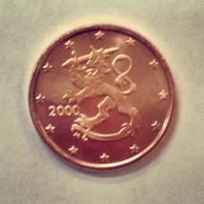1 евроцент 2000 год. Финляндия