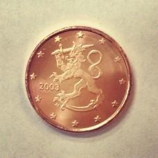 1 евроцент 2003 год. Финляндия