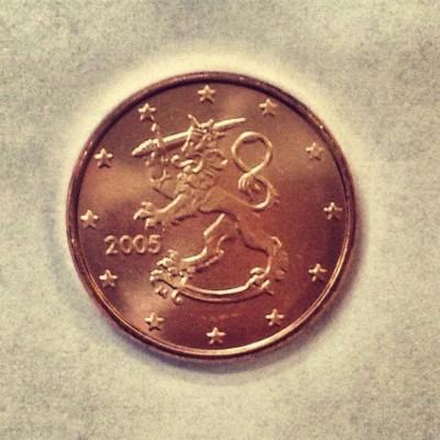 1 евроцент 2005 год. Финляндия