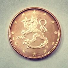 1 евроцент 2007 год. Финляндия