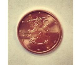 1 евроцент 2004 год. Финляндия