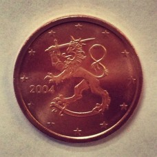 2 евроцента 2004 год. Финляндия