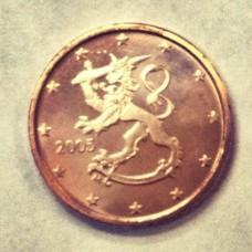 2 евроцента 2005 год. Финляндия