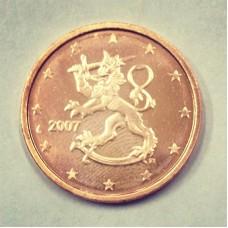 2 евроцента 2007 год. Финляндия