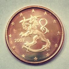 5 евроцентов 2007 год. Финляндия