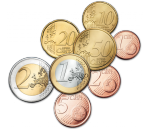 Евро монеты регулярный чекан