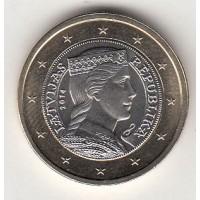 1 Евро 2014 год. Латвия