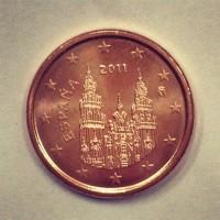 1 евроцент 2011 год. Испания