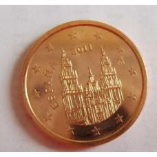 2 евроцента 2011 год. Испания