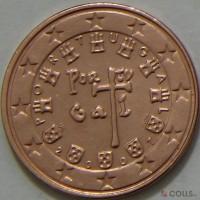 1 евроцент 2007 год. Португалия