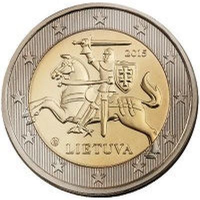 2 евро 2015 год. Литва.