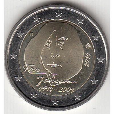 2 евро 2014 год. Финляндия. 150 лет со дня рождения Туве Янссон.
