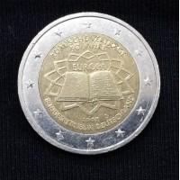 2 евро 2007 год. Германия. 50 лет Римскому договору, двор D