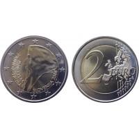 2 евро 2008 год. Словения. 500 лет со дня рождения Приможа.