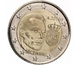 2 евро 2010 год. Люксембург. Герб Великого Герцога Люксембурга