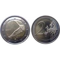 2 евро 2011 год. Финляндия. 200 летие Банка Финляндии.