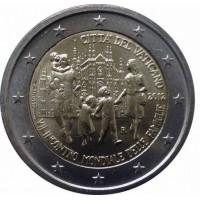 2 евро 2012 год. Ватикан. VII Всемирная встреча семей